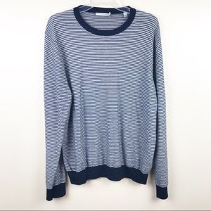 Vince Men's sweater cashmere wool stripe large